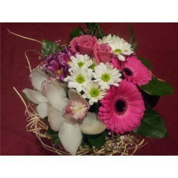 Bouquet blanco y rosa