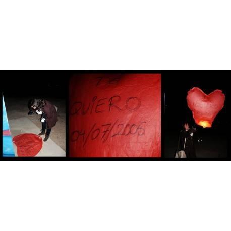 Pack 5 corazones voladores rojos