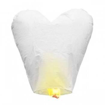 5 corazones voladores blancos