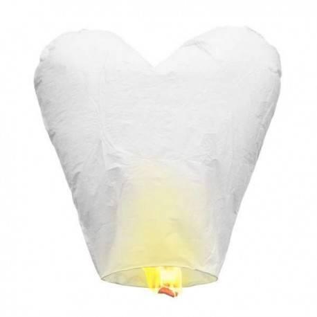 Pack 5 corazones voladores blancos