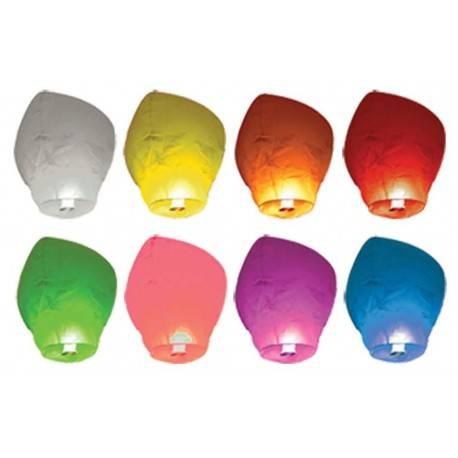 8 Farolillos Voladores - Surtido de Colores