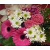 Bouquet blanco y rosa