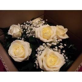 Ramo de 4 rosas blancas