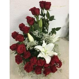 Escalera doble de rosas