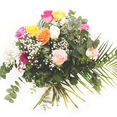 Docena de rosas de colores
