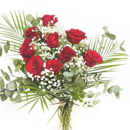 Bouquet de 9 rosas rojas