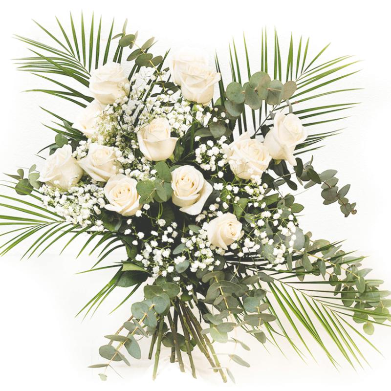 Ramo Rosas Blancas Floresnuevascom - Imagenes-de-ramos-de-rosas-blancas