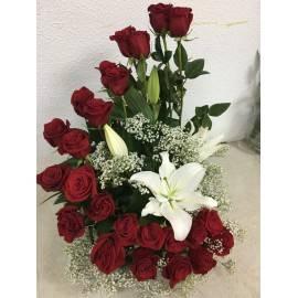 Escalera de rosas