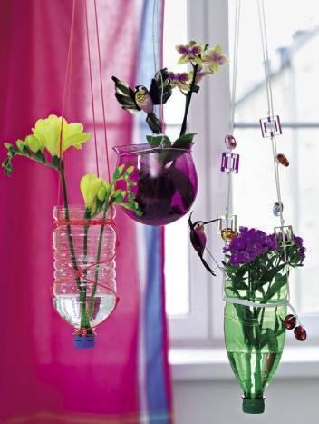 Decoraci n con botellas for Tu jardin con enanitos acordes