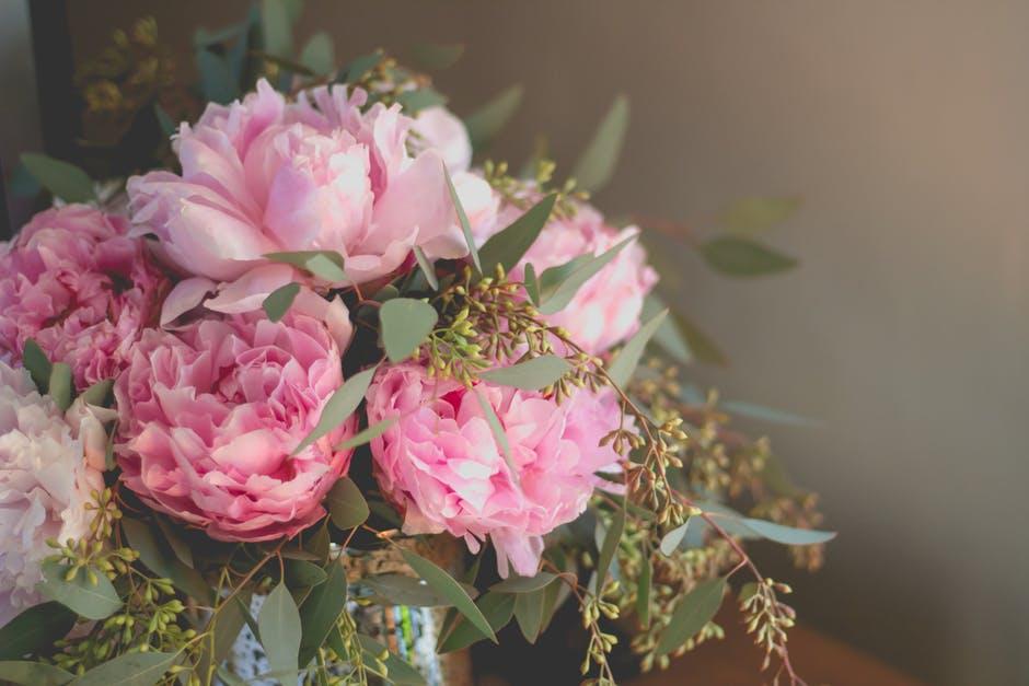 Ramos de flores peonia
