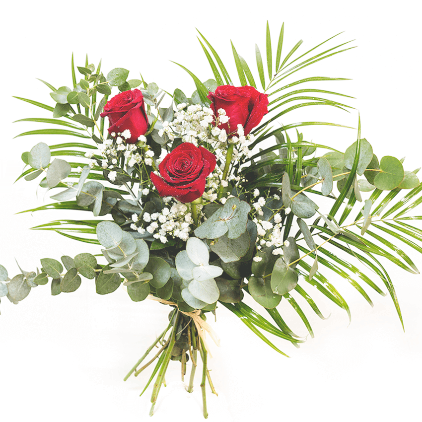 Ramo 3 rosas rojas